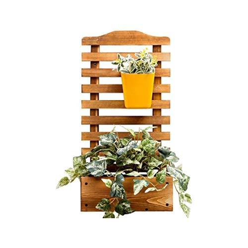 QPLKKMOI Flower Rack Wood Plant Stand Wood Shelves, Wall-mounted Flower Shelf, Bonsai Display Shelf Indoor Outdoor