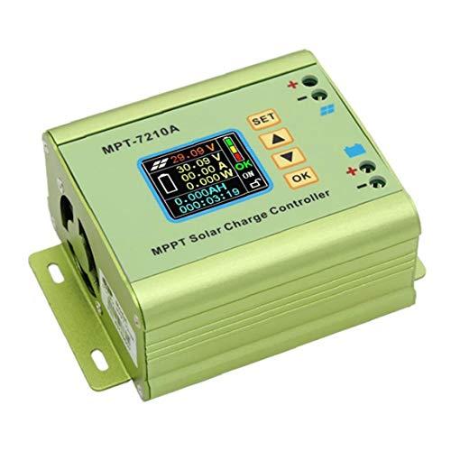 Uayasily MPPT Solar Regolatore di Carica MPT-7210A Display LCD 24V 36V 48V 60V 72V 10A Regolabile per Accessori per stampanti Batteria al Litio 3D