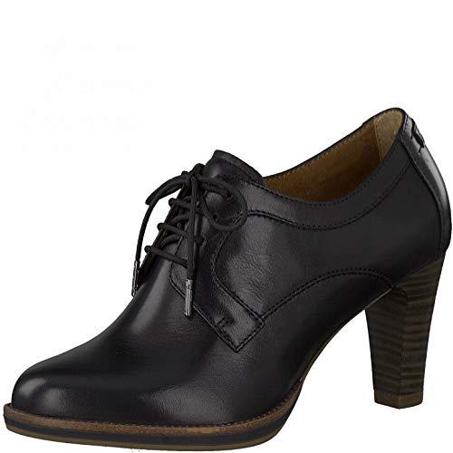 Tamaris Damen Hochfront Pumps, Frauen Pumps,Touch It-Fußbett,Court,Shoes,Absatzschuhe,stöckelschuhe,College-Pumps,weiblich,Black Uni,41 EU / 7.5 UK