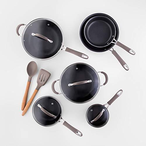 Cravings by Chrissy Teigen 12pc Aluminum Cookware Set Grey