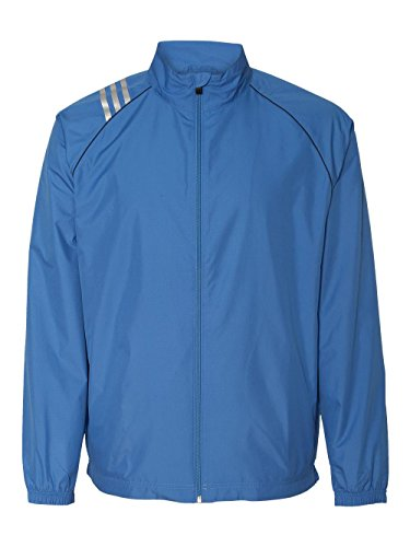 adidas Golf A69Climaproof Herren 3-Streifen Full Zip Jacke XX-Large Blau - Gulf
