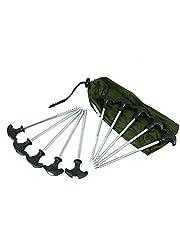 DD-Tackle 10piquetas para tienda de campaña Bivvy T-Incluye funda, estacas T para tienda de 21 cm