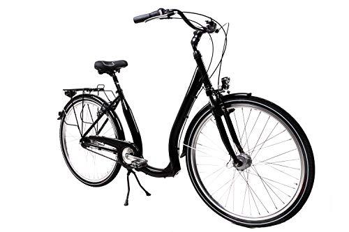 28 Zoll Alu Damen City Bike Easy Boarding Tiefeinstieg 7Gang Shimano Nabendynamo - 2