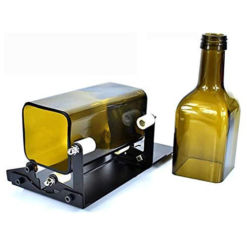 ZXCVB Glasflaschenschneider, quadratischer und runder Flaschenschneidemaschine, Bierflaschen Cutter Tool mit Zubehör Werkzeugkit für das Herstellen von Glaskerzenhalter, Vase, Kronleuchter