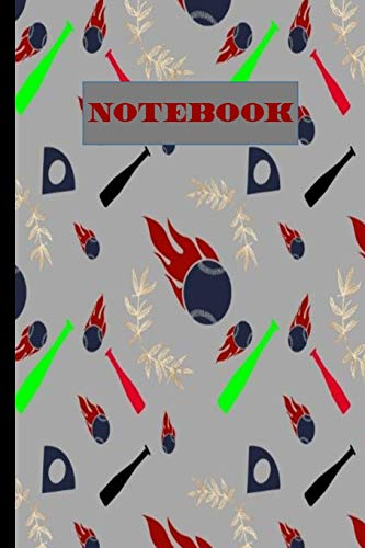 Notebook: Baseball  : Seamless Pattern Journal Lined Pages