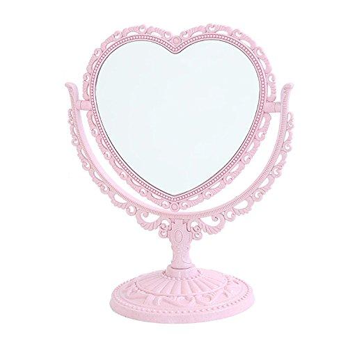 Retro Palace Fans desktop desktop Make-up-Spiegel Mädchen Pink heart-shaped Spiegel Liebe, die schöne Prinzessin Rosa 3659 drehen
