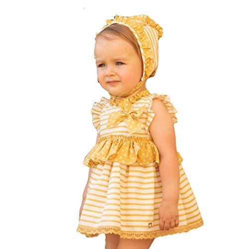 DOLCE PETIT - Vestido Bebe bebé-niños Color: Ocre Talla: 18M