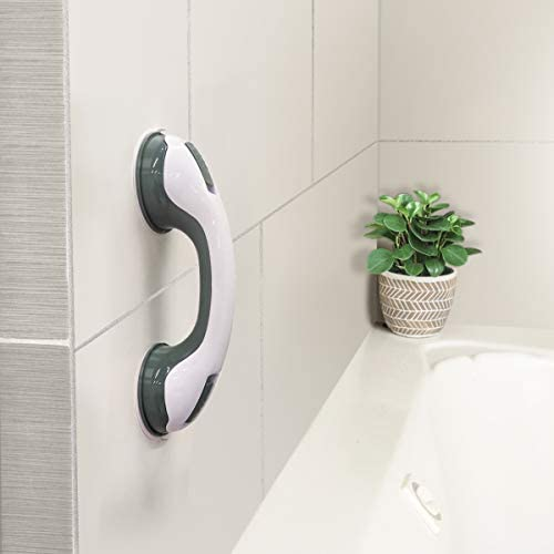 NLAAHCE Shower Handle 12 Grab Bars for Bathroom Ultra Grip Dual Locking Safety Suction Cups product image