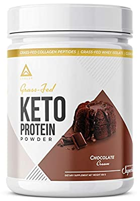 Grass Fed Keto Protein Powder - Grass Fed Collagen - Grass Fed Butter - Grass Fed Whey - Pure C8 MCT Oil - Best Ketogenic Protein Shake - The Perfect Keto Supplement