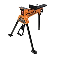"""Reversible sliding jaws allow extra-wide clamping capacity, up to 39"""" Urethane jaw facings provide protective, provides slip-resistant grip Controlled foot-operated clamping allows hands-free operation Improved frame and leg design allows setting up ..."""