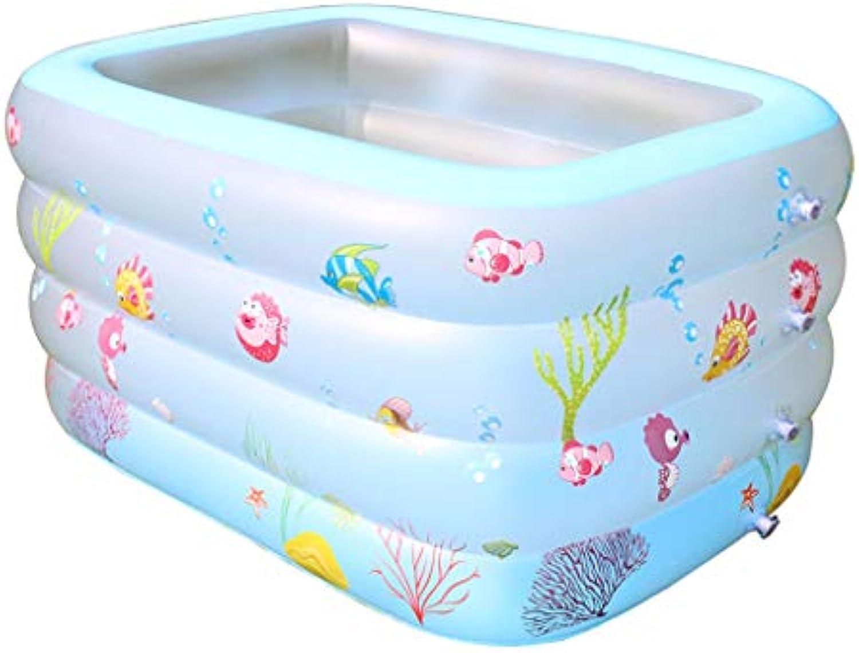 QARYYQ Aufblasbare Suglingsbabyübung der Kinder des aufblasbaren Innenpools des Schwimmbades, der verdickende Wanne 140x100x70cm erhht Aufblasbare Badewanne