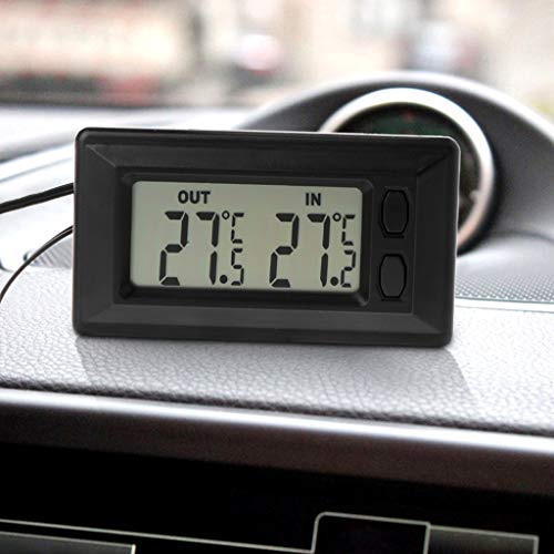 BIlinli Auto-LCD-Digitalanzeige-Innen-Thermometer-Meter des Auto-LCD digitales mit 1.5m Kabel