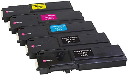 5er Set Premium Toner kompatibel für Dell C2660 C2660dn C2665 C2665dnf | Schwarz 6.000 Seiten & Color je 4.000 Seiten