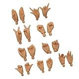 9 Paare Bewegliche Puppen Hände Für 12'' Blythe Puppe Körperteile Zubehör - Schwarz
