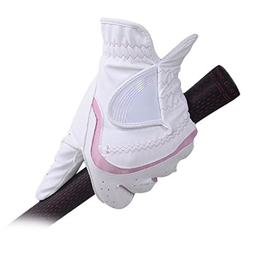 GYN Frauen Golf Handschuhe,1 Paar Premium PU Leder Atmungsaktive Soft Professionelle Komfortable Damen Golfhandschuh,rutschfest Verschleißfeste Outdoor-aktivitäten Golfhandschuh,21#