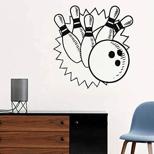Juegos de bolos Etiqueta de la pared Decoración del hogar Arte Diseño de interiores Calcomanías deportivas de pared Niños Decoración de la habitación de los niños Papel tapiz A1 30x30cm