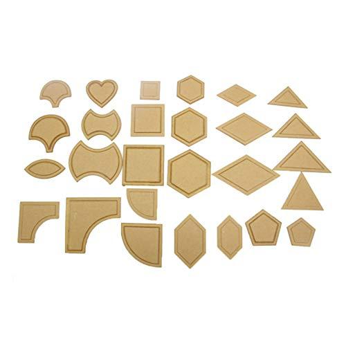 Vektenxi Durable 54 Stücke Acryl Quilten Vorlagen Nähen Schablonen Patchwork Lineal Nähen Werkzeug Set