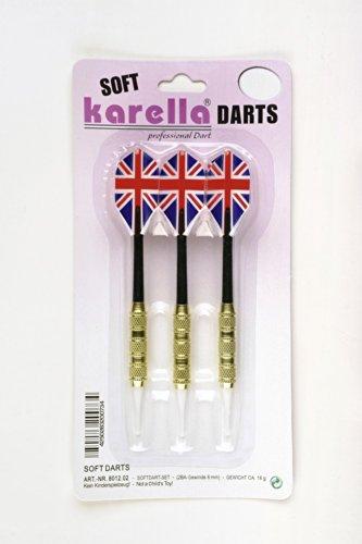 Schmidt Sportsworld Karella - Set di 3 Freccette morbide, Filettatura 2BA (6 mm)