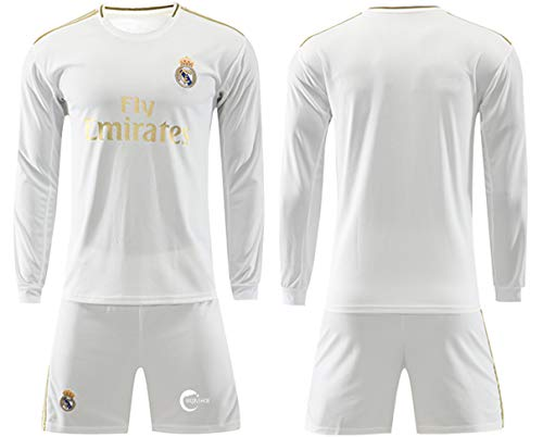 19/20 Home Jersey Season Real Madrid Jersey Gareth Bale #11 Sports Suit Football Hazard #7 Sportswear T-Shirt