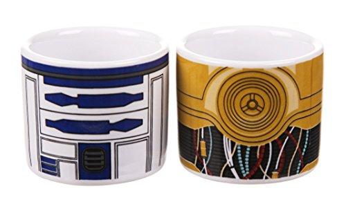 Boxed Star Wars R2 D2 e C 3PO Set 2 tazzine di uovo
