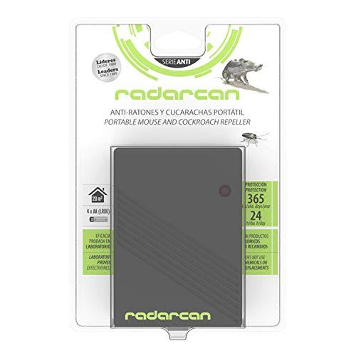 Radarcan® SC-10RC Antiratones y cucarachas portátil, 20 m2, negro. Repelente ultrasónico de ratones y cucarachas. Ahuyentador de ratones y cucarachas portátil.