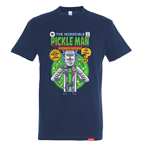 Camiseta The Incredible Pickle Man – Rick & Morty - Color Azul...