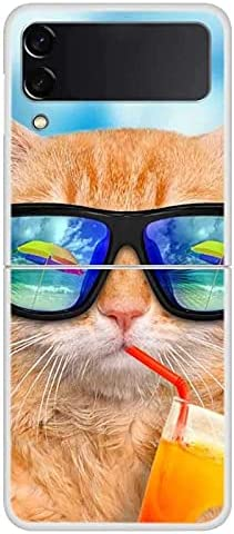 The case for Samsung Galaxy Z Flip 3 Case Phone Cover Hard PC Fundas for Samsung Z Flip3 5G Case Fashion Clear Bumper ZFlilp 3 ZFlip3 Bag (11, Galaxy Z Fip 3)