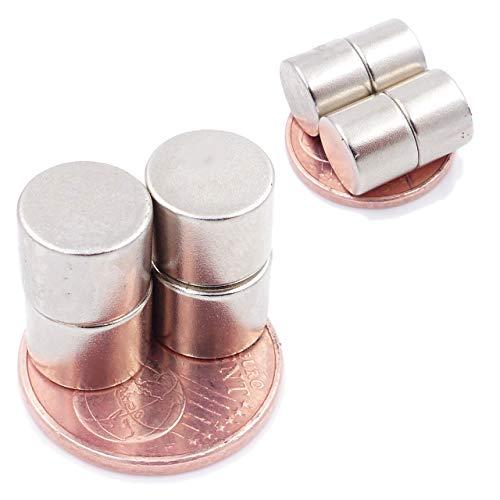 Brudazon   10 Mini Scheiben-Magnete 10x8mm   N52 stärkste Stufe - Neodym-Magnete ultrastark   Power-Magnet für Modellbau, Foto, Whiteboard, Pinnwand, Kühlschrank, Basteln   Magnetscheibe extra stark