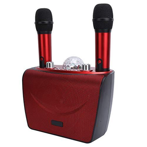 Conexión inalámbrica profesional estable de la máquina portátil del Karaoke del altavoz de Bluetooth Bluetooth para el teléfono(Red S201-Double wheat)