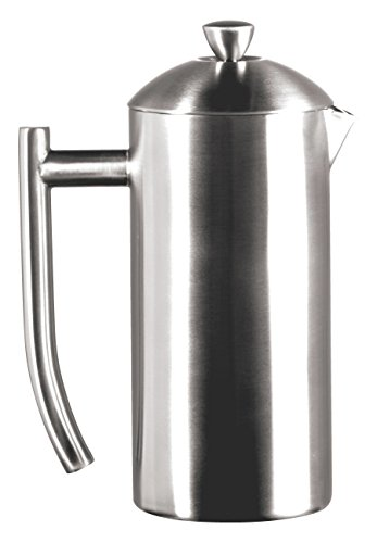 Frieling USA Double-Walled Stainless-Steel French Press Coffee Maker in Frustration Free Packaging, Brushed, 36 Ounces
