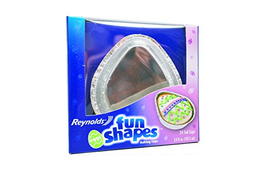 Reynolds Fun Shapes Baking Cups Easter Egg Shaped 24 Ct