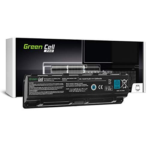 Green Cell PRO Battery for Toshiba Satellite Pro C850 C850-10N C850-10R C850-114 C850-116 C850-13L C850-146 C850-147 C850-158 C850-160 C850-16T C850-173 Laptop (5200mAh 10.8V Black)