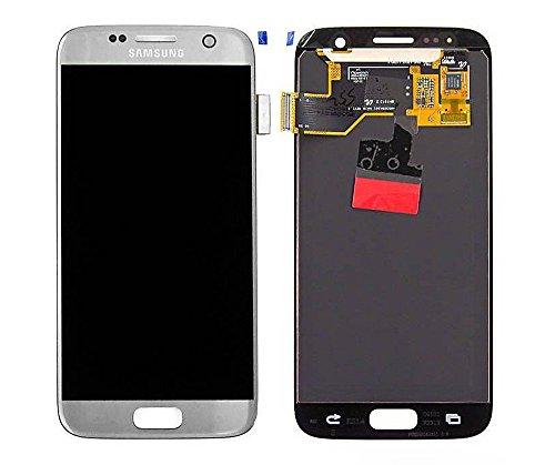 Original Samsung Galaxy S7 SM G930F LCD AMOLED Display Touchscreen Digitizer Silber Silver Service Ersatzteil OCTA GH97-18523B