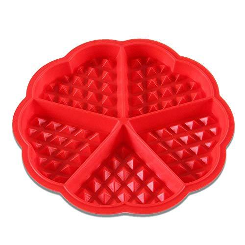 LQXZJ-Molde para hornear Diseño Corazón de la flor rosa 3D de la forma del molde de silicona pasta de azúcar hornear tortas galletas galletas hielo de la jalea Postres DIY Decoración de chocolate (la