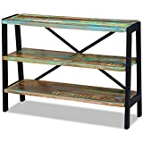 vidaXL 3 Shelves Sideboard Solid Reclaimed Wood Side Console Table Nightstand