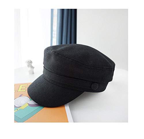 Bambini e ragazzi dunne schildershoed van de vrouwelijke Britse zomer, zwarte baret, wilde krantenkap van de herfst en de winter, achthoekige knoop