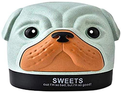 Toalla de papel Creativo estilo de dibujos animados lindo de bombeo de papel de fibra de trigo Box perro bandeja de papel de Inodoros caja reutilizable tejido de almacenamiento # 3S17, Rosa, China bie