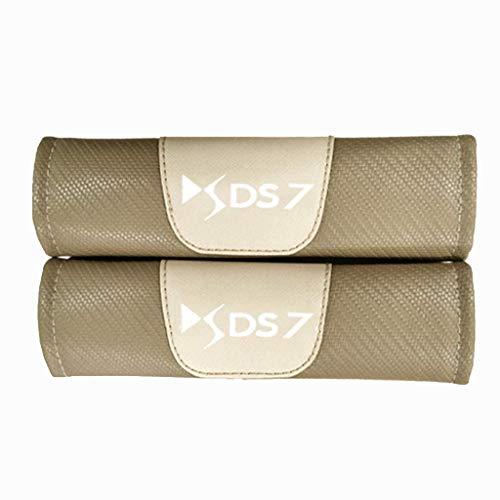 ZYLFP Almohadillas para CinturóN De Seguridad para Citroen DS7 All Models, 2 Piezas Fibra De Carbono Interior Fundas Coche Piezas