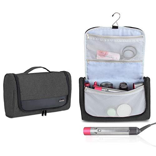 Luxja Tragbare Reisetasche für Dyson Airwrap Styler, Kulturtasche für Airwrap Styler und Zubehör, Faltbare Kosmetiktasche für Dyson Lockenwickler, Schwarz