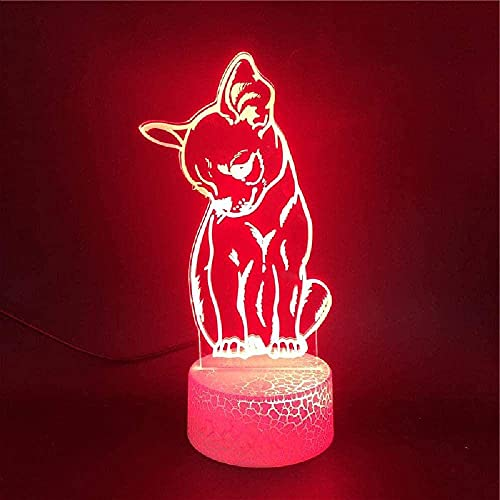 3D ilusión lámpara Lámparas de decoración zapatos deportivos para sala de estar, cama, bar, regalo juguetes para niños y niñas Siete cambios de color, con interfaz USB