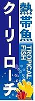 『60cm×180cm(ほつれ防止加工)』お店やイベントに! のぼり のぼり旗 熱帯魚 TROPICAL FISH クーリーローチ(青色)