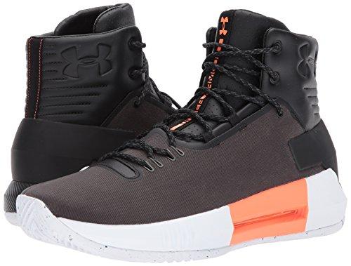 Under Armour Men's Drive 4 Premium Basketball Shoe, Black (001)/Black, 9