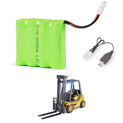 DOUBLE E Rechargeable Battery 4.8V 800mAh for RC Forklift Toy with EL 2P Plug