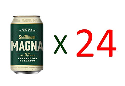 San Miguel Spanisches Bier Magna 24x33cl (Pack 24 Dosen)