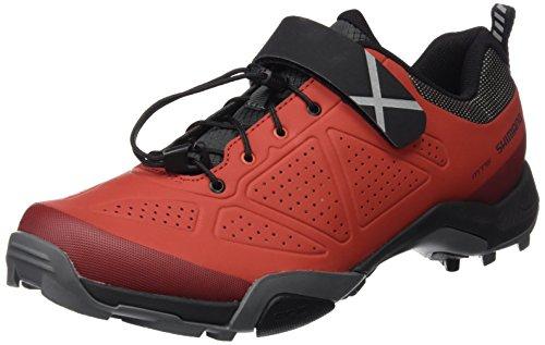 Shimano SHMT5OG450SR00, Zapatillas de Ciclismo de Carretera para Hombre, Rojo (Red), 45 EU