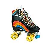 Moxi Skates - Rainbow Rider - Fun and Fashionable Womens Roller Skates | Asphalt Black | Size 7