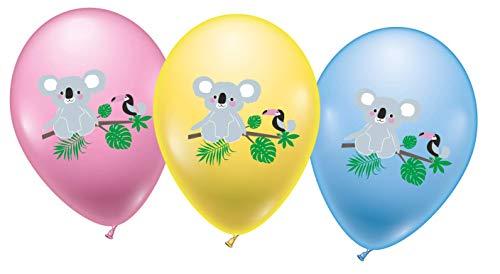 Karaloon-18 Ballons Koala Globos, Color carbón (30093-18)