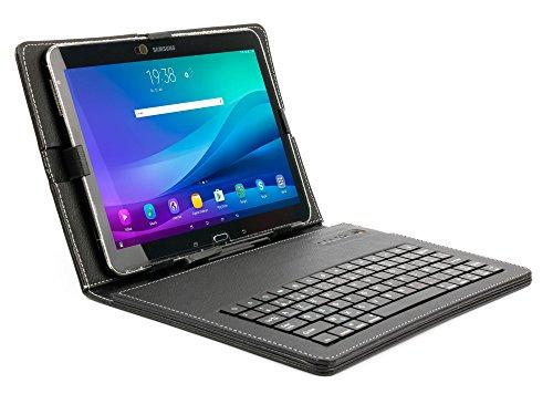 "DURAGADGET Etui Clavier AZERTY + Stand intégré pour Huawei MediaPad M5 Lite 10 / MediaPad T5 10 Wi-FI/MediaPad T3 10 9.6"" et Essentielb Smart'tab 1005 tablettes 10,1"" - Aspect Cuir Noir"