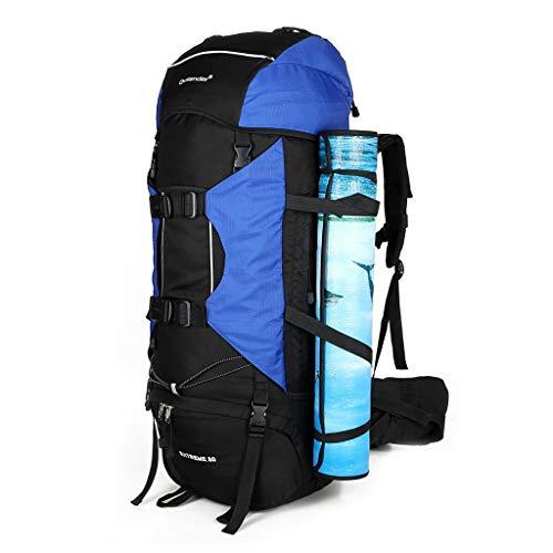 Zaino da Alpinismo,Trekking 80L Impermeabile Trekking Zaino Donna Uomo Unisex Viaggio Montagna Zaino da Trekking Campeggio Alpinismo Zaino pieghevole ultraleggero per Outdoor Scuola multifunzione
