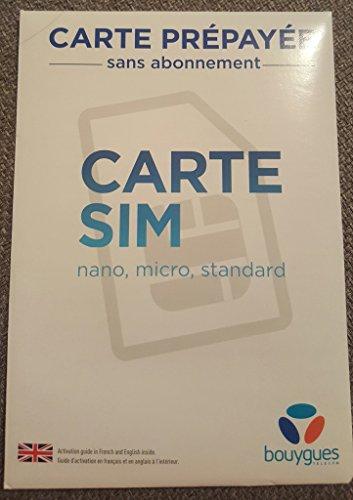PA83 SIM-Karte Bouygues Telecom Prepaid ohne Verlobung